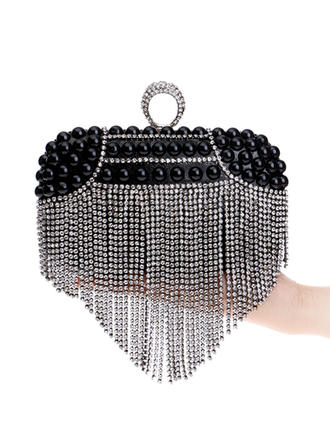 Clutches/Satchel Wedding/Ceremony & Party Alloy Kiss lock closure Elegant Clutches & Evening Bags