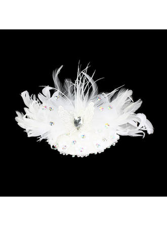 Wunderschöne Feather mit Strass / Hochzeit Braut Kopfstück