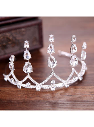 Ladies Glamourous Rhinestone/Alloy Tiaras With Rhinestone (Sold in single piece) (042152684)