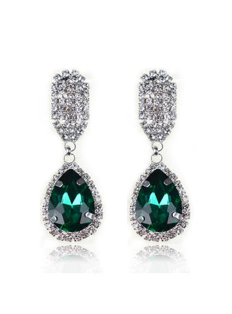 Gorgeous Alloy/Crystal/Glass Ladies' Earrings (011071748)