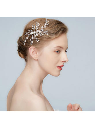 Classic Alloy Hairpins With Crystal (Sold in single piece)