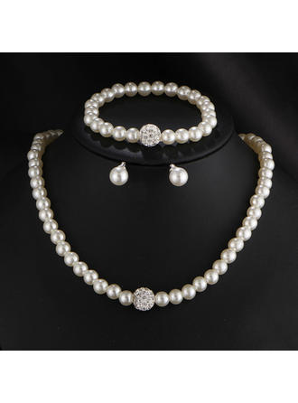 Jewelry Sets Imitation Pearls Lobster Clasp Pierced Ladies' Wedding & Party Jewelry