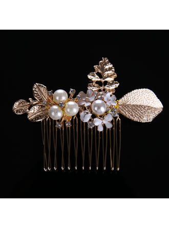 """Combs & Barrettes Wedding/Party Alloy/Imitation Pearls 3.15""""(Approx.8cm) 2.36""""(Approx.6cm) Headpieces"""