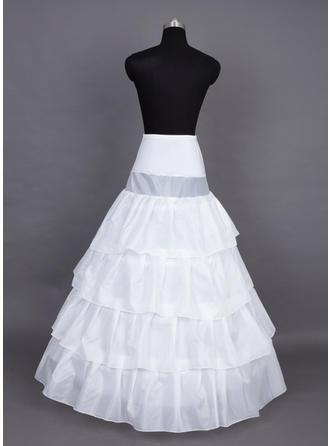 Unterröcke Bodenlang Nylon/Satin Volle Kleid Gleiten 4 Ebenen Reifröcke