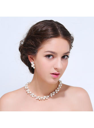 Jewelry Sets Alloy Rhinestone Lobster Clasp Earclip Wedding & Party Jewelry