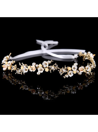 Alloy/Imitation Pearls Headbands (Sold in single piece)