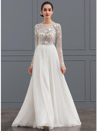A-Line/Princess - Chiffon Tulle Wedding Dresses