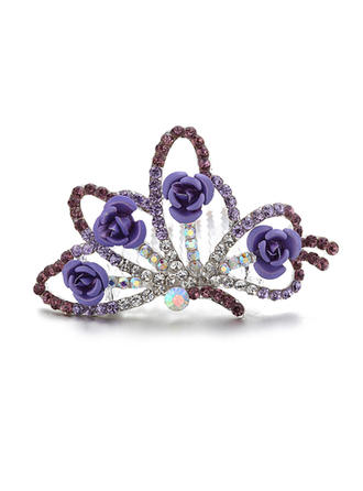 "Tiaras/Flower Girl's Headwear Wedding/Special Occasion/Party/Carnival Rhinestone/Alloy 2.95""(Approx.7.5cm) 2.36""(Approx.6cm) Headpieces"