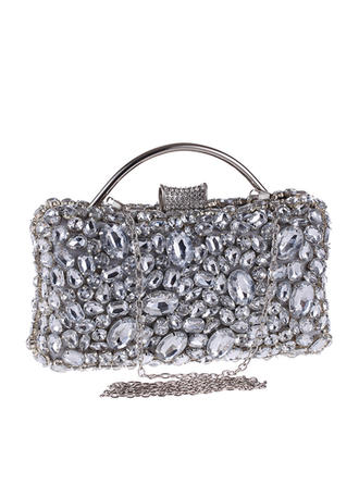 Clutches Ceremony & Party Alloy Clip Closure Elegant Clutches & Evening Bags