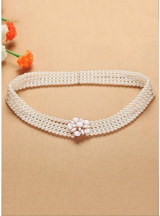 Women Imitation Pearls Belt Elegant Sashes & Belts