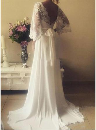 bohemian beach wedding dresses for women