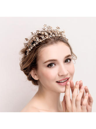 "Tiaras Wedding/Special Occasion Rhinestone/Alloy/Imitation Pearls 14.17""(Approx.36cm) 2.36""(Approx.6cm) Headpieces"