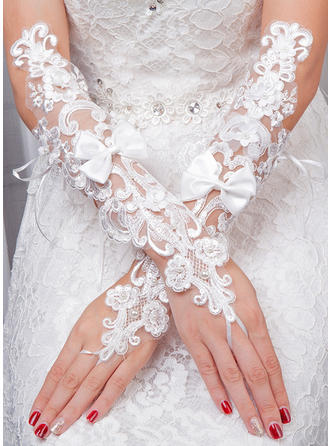 Tulle Ladies' Gloves Bridal Gloves Fingerless 35cm(Approx.13.78inch) Gloves (014192223)