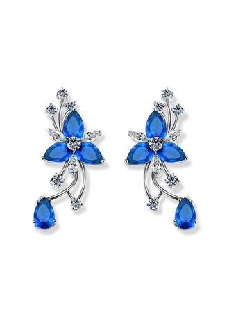 Earrings Zircon Pierced Ladies' Shining Wedding & Party Jewelry