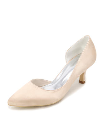 Women's Pumps Stiletto Heel Silk Like Satin With Others Wedding Shoes