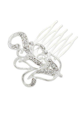 """Combs & Barrettes Wedding/Party Rhinestone/Alloy 2.56""""(Approx.6.5cm) 2.17""""(Approx.5.5cm) Headpieces"""