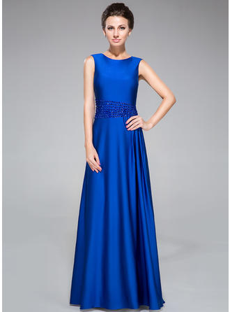 Jersey Sleeveless Mother of the Bride Dresses Scoop Neck Sheath/Column Beading Floor-Length (008042315)
