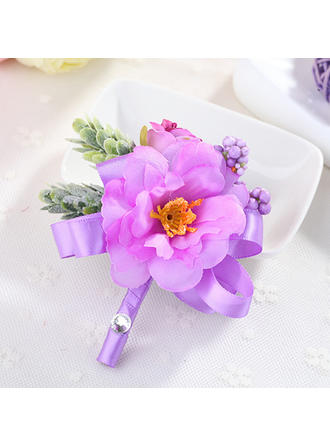 Boutonniere Wedding Fabric Girly Wedding Flowers