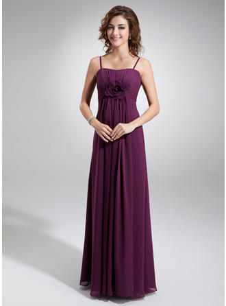 Empire Sweetheart Floor-Length Bridesmaid Dresses With Ruffle Flower(s)
