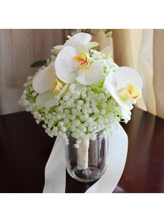 "Bridal Bouquets Round Wedding 9.45""(Approx.24cm) 7.87""(Approx.20cm) Wedding Flowers"
