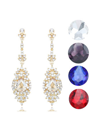 Earrings Alloy/Rhinestones Pierced Ladies' Classic Wedding & Party Jewelry