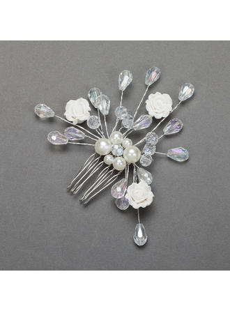 "Combs & Barrettes Wedding/Special Occasion/Party Crystal/Alloy 3.74""(Approx.9.5cm) 3.54""(Approx.9cm) Headpieces"