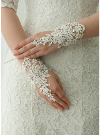 Lace Ladies' Gloves Wrist Length Bridal Gloves Fingerless Gloves (014192209)