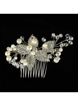 "Combs & Barrettes Wedding/Special Occasion Alloy 2.76""(Approx.7cm) 3.35""(Approx.8.5cm) Headpieces"