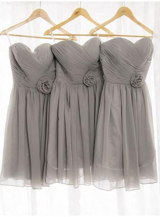 Sleeveless Sweetheart A-Line/Princess Chiffon Bridesmaid Dresses