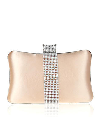 Clutches Wedding/Ceremony & Party Silk Snap Closure Elegant Clutches & Evening Bags