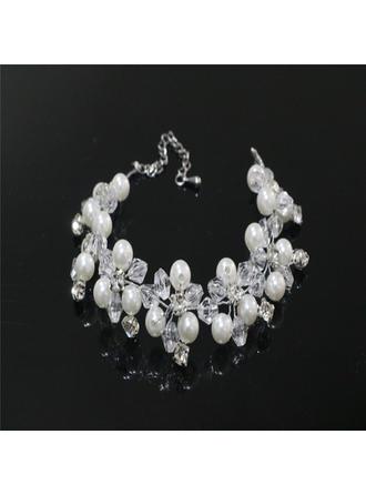 Elegante Strass/Di faux perla con Strass/Di faux perla Signore Bracciali