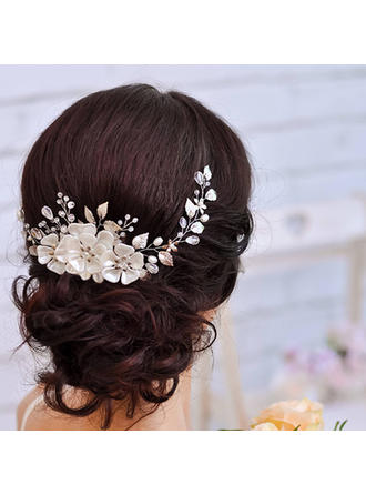 Ladies Classic Rhinestone/Alloy/Imitation Pearls Headbands With Rhinestone/Venetian Pearl