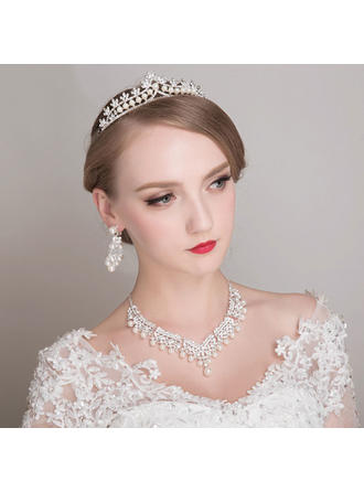 Jewelry Sets Alloy/Rhinestones/Imitation Pearls Earclip Ladies' Beautiful Wedding & Party Jewelry