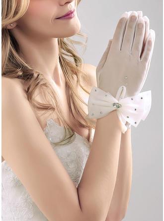 Nylon Ladies' Gloves Wrist Length Bridal Gloves Nylon Gloves
