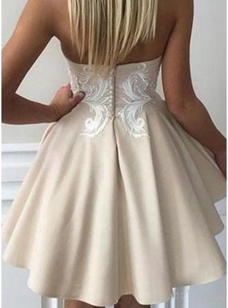 open back floral cocktail dresses