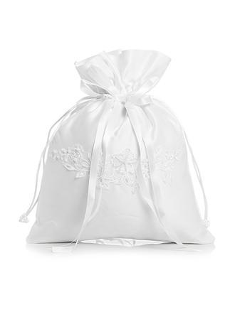Einzigartige Satin mit Synthetischen Perlen/Schnur Braut Geld-Beutel