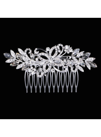 "Combs & Barrettes Wedding Rhinestone/Alloy 4.33""(Approx.11cm) 2.17""(Approx.5.5cm) Headpieces"