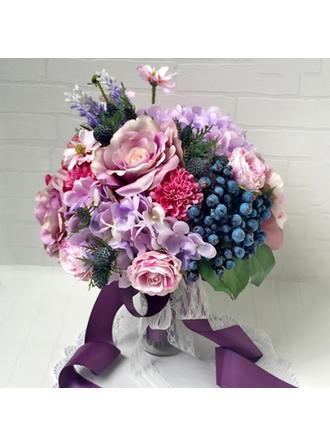 Brautsträuße Hochzeit/Party Band/Kunstseide/Lace Color & Style Darstellung gezeigt kann je nach Monitor Süß Brautstrauß