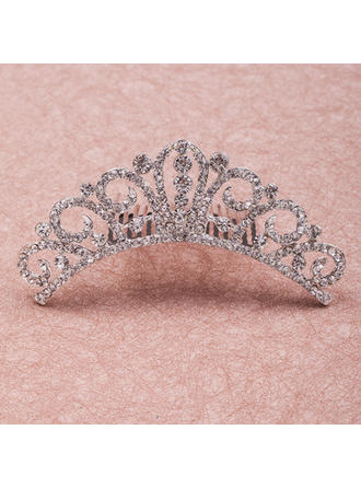 "Tiaras Wedding/Special Occasion Rhinestone/Alloy 4.33""(Approx.11cm) 1.38""(Approx.3.5cm) Headpieces"