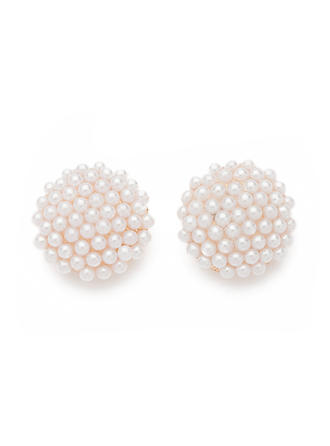 Earrings Alloy/Pearl Pierced Ladies' Beautiful Wedding & Party Jewelry