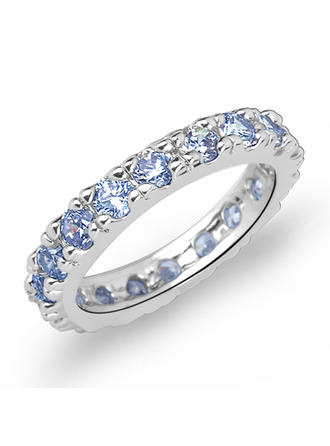 Rings Zircon/Platinum Plated Ladies' Shining Wedding & Party Jewelry