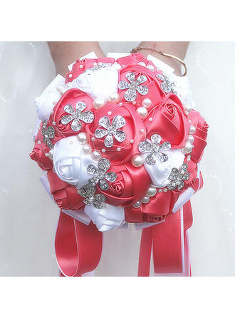 """Bridal Bouquets/Bridesmaid Bouquets Round Wedding/Party Satin 5.91""""(Approx.15cm) Wedding Flowers"""