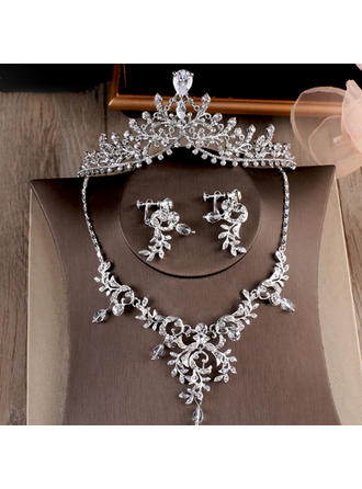 Gorgeous Alloy/Rhinestones/Zircon With Rhinestone Ladies' Jewelry Sets (011110894)