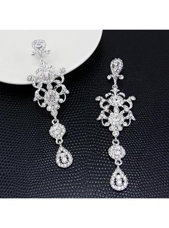 Earrings Alloy/Rhinestones Pierced Ladies' Romantic Wedding & Party Jewelry