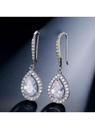 Earrings Zircon Earclip Ladies' Shining Wedding & Party Jewelry