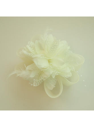 "Forehead Jewelry Wedding/Special Occasion/Party Net Yarn/Silk Flower 2.76""(Approx.7cm) 2.76""(Approx.7cm) Headpieces"