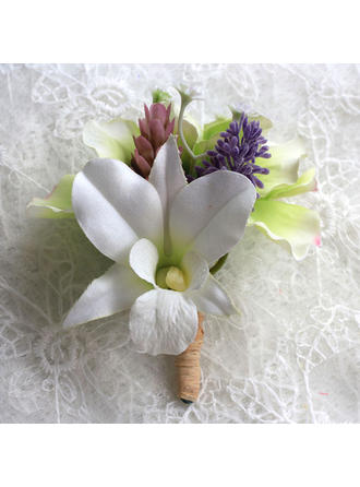 "Boutonniere/Men's Accessories Free-Form Wedding Satin 5.91""(Approx.15cm) Wedding Flowers"