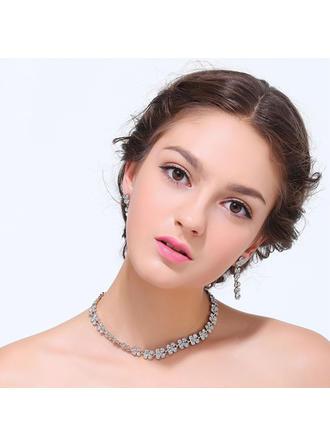 Jewelry Sets Alloy Rhinestone Lobster Clasp Pierced Wedding & Party Jewelry
