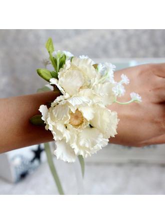 Armbandblume Hochzeit Satin Color & Style Darstellung gezeigt kann je nach Monitor Niedlich Brautstrauß