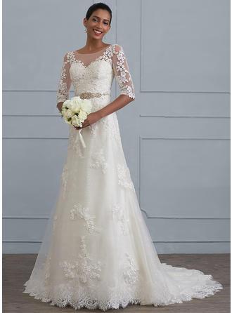 Beading Sheath/Column - Lace Wedding Dresses